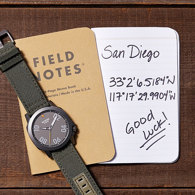 #NIXONHUNT is on! The first to head to GPS COORDINATES HERE will be the lucky new owner of a Nixon summer prize pack including the #ranger, #blaster, #fieldnotes and more. #goodluck!