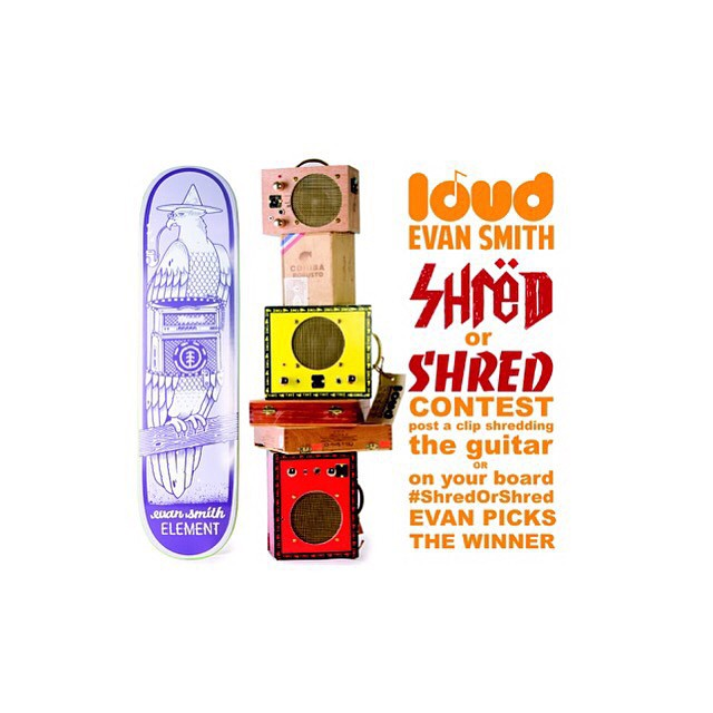 The Evan Smith (@starheadbody) x Loud Headphone contest is still going, and we're giving away an Evan board and a Cigar box amp! How to enter:  1) Follow @loudheadohones 2) Post a clip of your favorite trick or lick!! (skate trick or music shred) 3)...