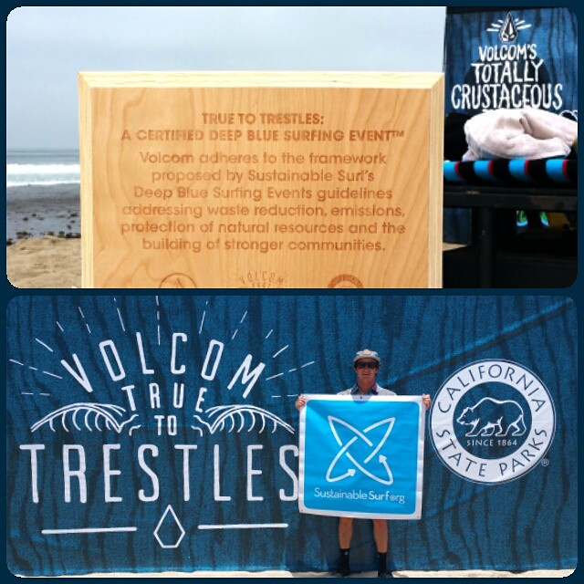 Stoked to work with @volcom to make the Volcom TCT Finals at Lower Trestles a Deep Blue Surfing Event. Volcom's commitment to sustainability is super solid. Check out the live webcast today and tomorrow, and see the videos that tell the sustainability...