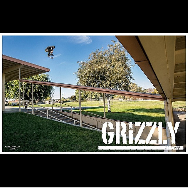 Appleyartz up in the new @thrashermag for @grizzlygriptape Booya! @mark_appleyard