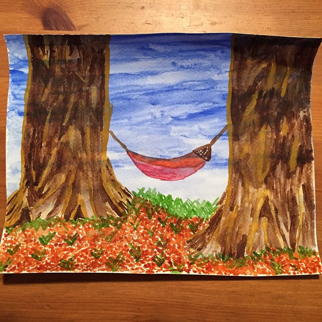 RachShredGnar Original 1/1 Sequoia Hammock #watercolors #yosemite #sequioa #mariposagrove #natureinspired #inspiredbynature #painting #artsandcrafts