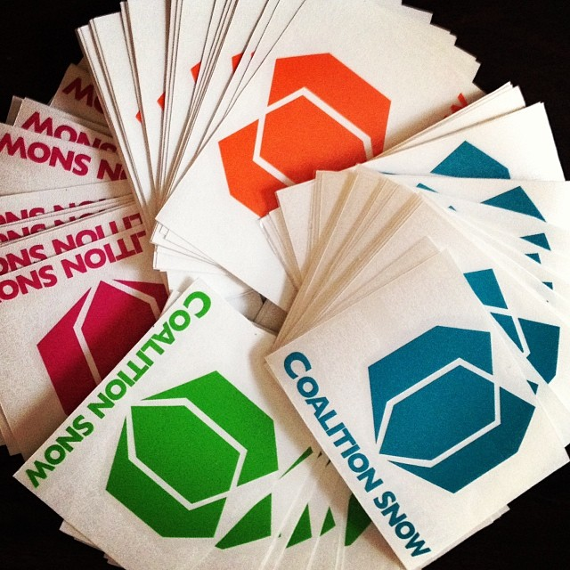 Can't wait to slap these puppies on anything and everything. Big shout out to @diecutstickersdotcom for delivering the goods! Check our our website to get yours. #free #stickers #skiing #snowboarding www.coalitionsnow.com