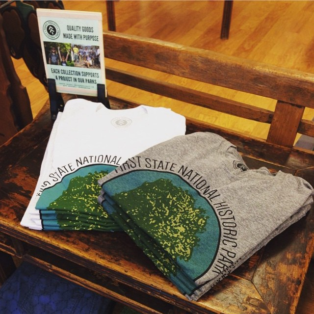 First State National Historic Park tees now available at @trailcreekoutfitters in Pennsylvania, supporting The Conservation Fund of the Mid- Atlantic region!