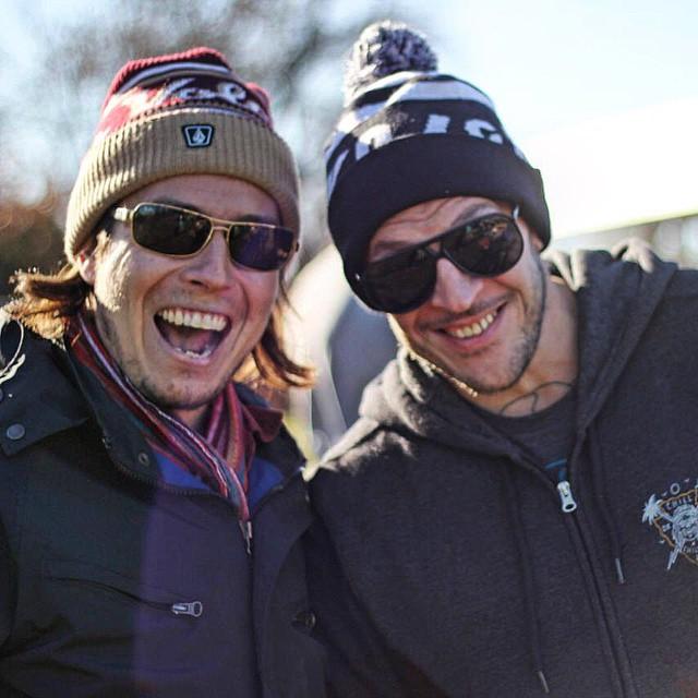 Camilo Varas & Martin Varbaro #FeaturedArtist #Volcom #TrueToThis y que el frío no te frene! @camilo_varas_ @mvarbaro