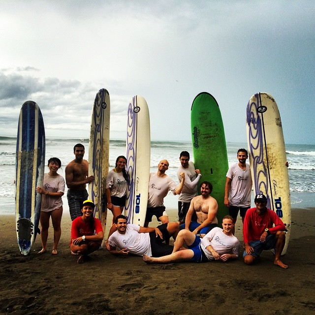 Fun rainy surf sesh with @GAdventures, getting our #Waterlust fix