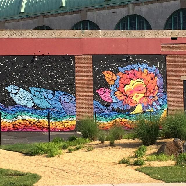 Asbury Park, NJ is a colorful place. #uluLAGOON #nj #asburypark #casino #jerseyshaw #itsthebeach #surfshops #beachculture