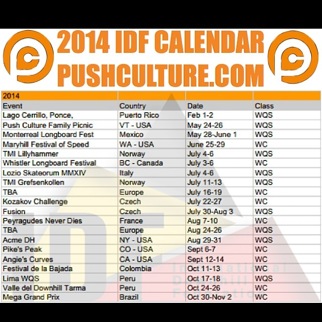 IDF calendar has been released. We posted it up for your viewing pleasure at pushculture.com