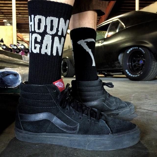 Tire Reaping Socks. Get 'em on #hoonigandotcom #sockgamelevel #deadly