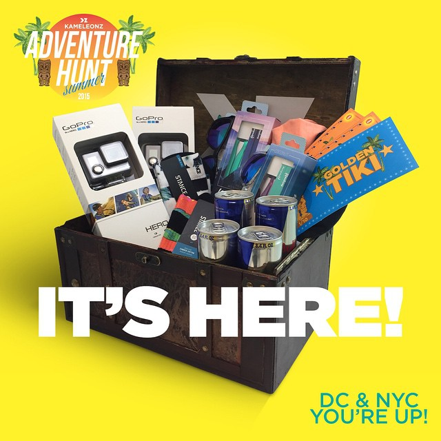IT IS HERE!! The Adventure Hunt has officially kicked off for NYC & DC!  We'll be announcing 6 more next week and they will be buried in the areas with the most registrations - so spread the word to get a treasure buried near you!  For those of you...