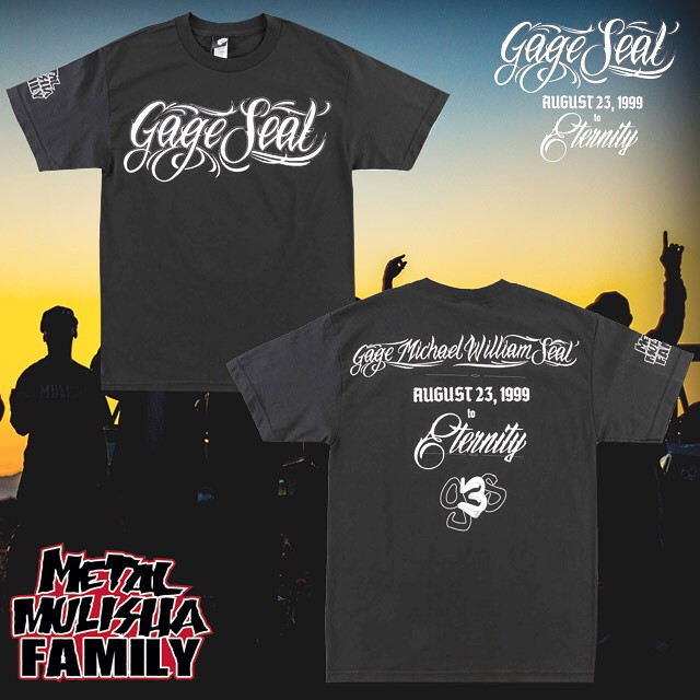 A #FAMILY in our community lost their son recently due to an unforeseen tragedy. We have collaborated with the Seal family to produce a memorial T-Shirt in his honor and to help the family during this very difficult time. All proceeds from the Gage...