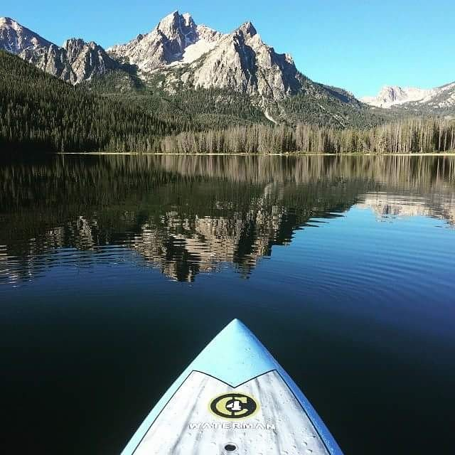 A busy weekend at the #payette #river #games means you need a little R &R on Stanley Lake.  #C4waterman
