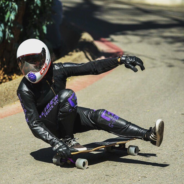 @carmen_sutra being the usual boss she is during the Catalina Island Classic. @godofbiscuits1 photo.  #longboardgirlscrew #womensupportingwomen #girlswhoshred #skatelikeagirl #carmensutra #style #theaminuscode