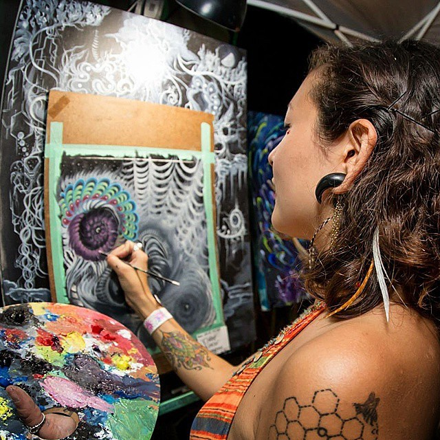 @elainealonzo • • Now carrying prints and art from this talented lady.  Hit her up to get your hands on some intense paintings...