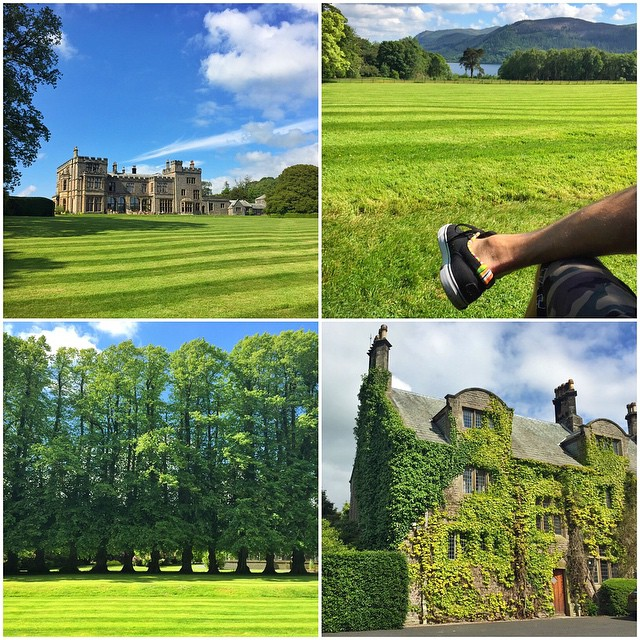 The hotel/country house I'm staying at in The Lake District of England right now is about as British as it gets: large historic mansion (dating back to the 1500s), perfectly manicured lawn, beautiful lake view. Not pictured: sheep and tea. Lots of tea....