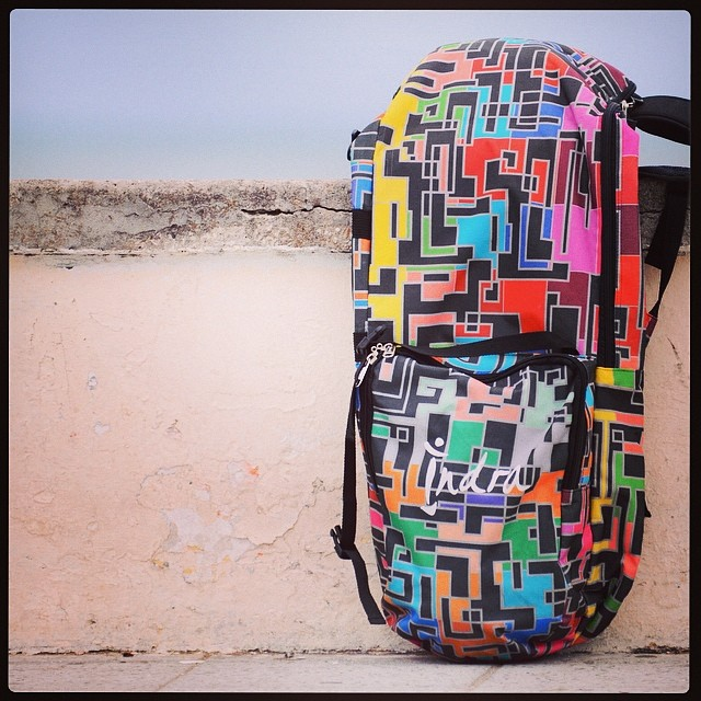 Indra Longboard Skate Backpack.
