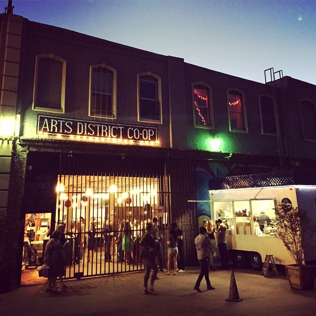 Great time at the Arts District Co-op in DTLA last night. If you haven't checked this space out its worth a visit. #LA #artsdistrict #DTLA