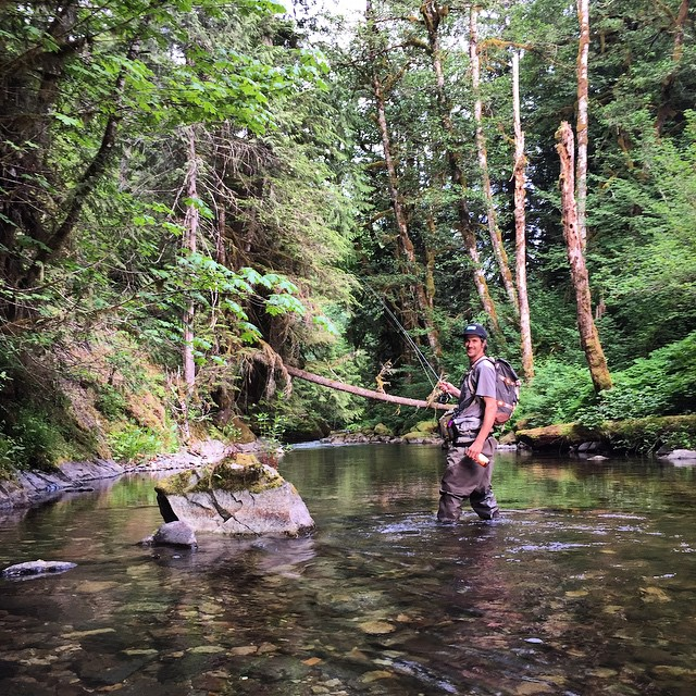 @eldulche in his sanctuary. #Flyfishing #CatchAndRelease || Tune in for #FreebieFriday for a chance to win a Ruckus Sack, Backpack... As seen here. #MindfullyManufactured ♻️