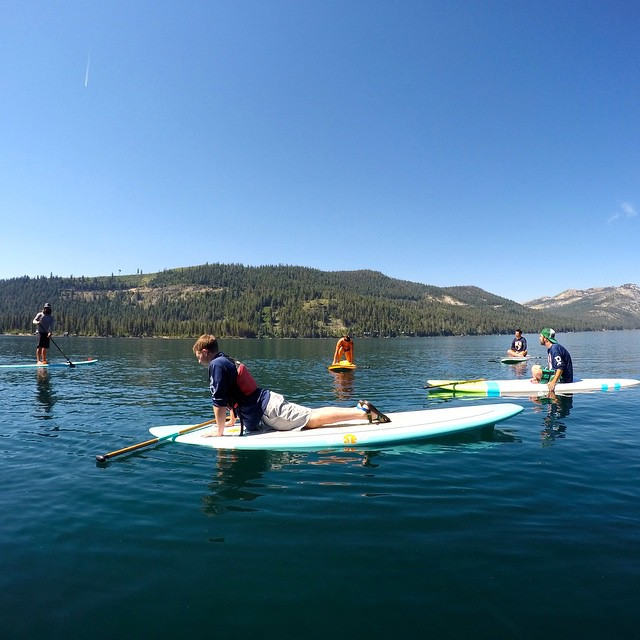 Wether you think you can or you think you can't you're right. Paddle board #boga yoga today! #bogapaddleboard #paddleboard #donnerlake  @bogasup