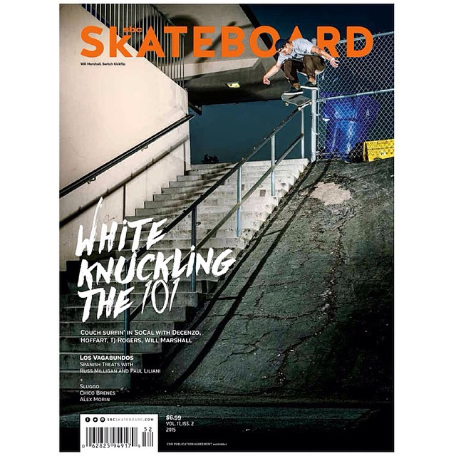 Congrats to Element Canada ruler Will Marshall (@willmarsh) who landed on the cover of SBC this month with a beast of a switch flip! Both Will and fellow Thrahser cover boy @saschadaley have some footy on the works soon to drop, stay tuned!