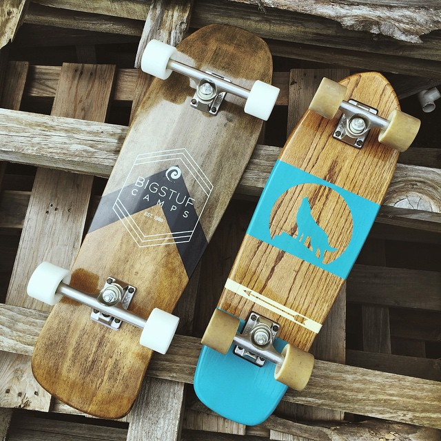 A few of our favorites leaving the shop today. #handmadeskateboard #Nashville