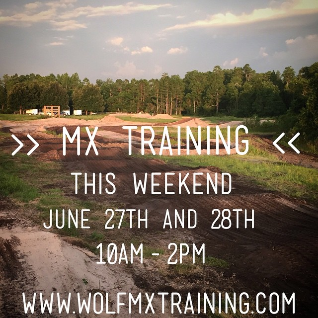 Come out this weekend to get some training in!  Call (931-319-3704)  #wolfmx #wolftrainingacademy