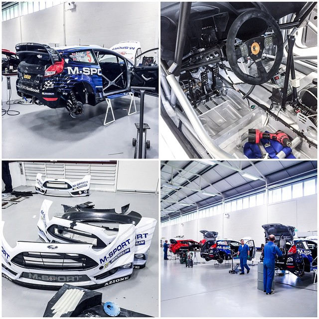 A few awesome things from the @MSportLTD race shop: Ford Fiesta R5 and WRC spec cars, spare parts, and more - all being re-prepped for their next racing mission. #racecarshopporn #factoryfresh #carbonfiberallofthethings