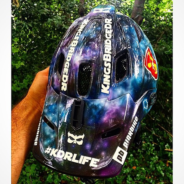 We're pumped to announce that the legendary Director of Good Times, @bretttippie, is now on the Kali Freeride team.  To celebrate, we asked Paint House Customs to whip up something special for his Maya.  What do you think of his new galaxy lid?