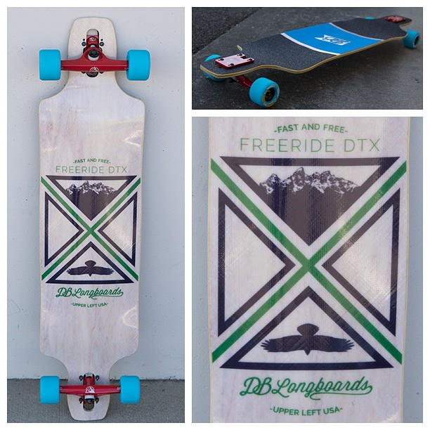 Fast and Free is the motto of the Freeride DTX! Checkout this new custom and make sure to build your own at DBLongboards.com! #longboard #longboarding #longboarder #dblongboards #goskate #shred #rad #stoked #skateboard #skateeveryday