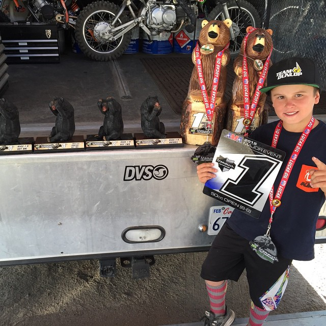 @dangerboydeegan railed at #Mammothmx national. Taking home the #AMA championship. And a lot of bears. Stoked on a #fun safe race.