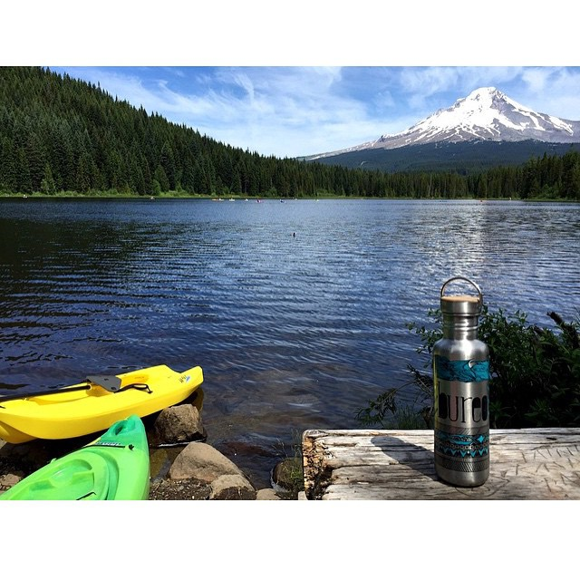 Adventure is out there...go find it. @ashleysmeltzer drinking plastic free and enjoying the view.