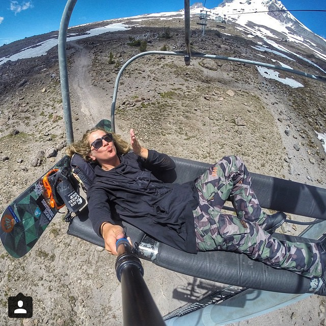Erika (@erikathevikingvikander) enjoying that Hood life...who's going this summer?