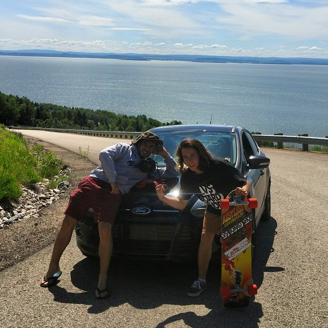 @lp_dery and @charlesouimet are stacking rads clips for a upcoming big video.  They went to Québec's most technical and beautiful road!  #restlessboards #restlessWIM