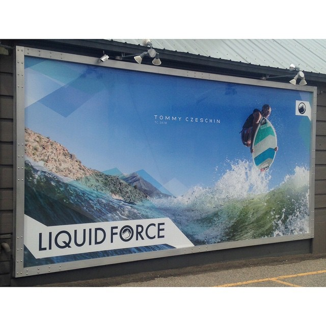 Pumped on the @cztommy billboard installed for the summer at @attridgeshop!  #TCSkim #SurfsUp #GoPro