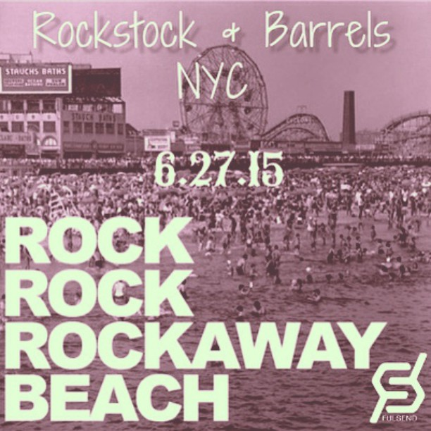 We'll be in Vendor Village Rain or Shine #rockawaybeach #rockstocknyc #summer #surfing #skateboarding #JustSendIt #boardwalk #surf #skate