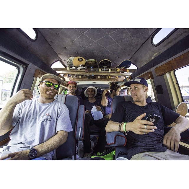Throwback to 100 degree weather no AC and the crew rolling deep on a 10 day van tour