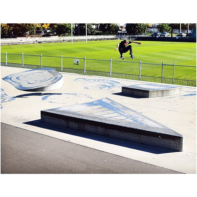 @nick_garcia >>> ollie over the block from the Australia tour published in @slamskateboarding >>> photo by #ElementAdvocate @jakedarwen #nickgarcia