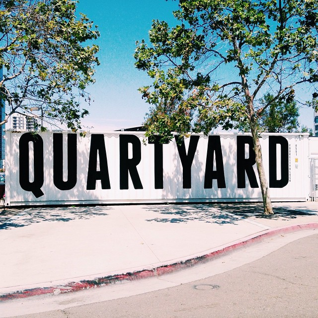 We'll be hanging out at @Quartyardsd tonight next to our good friends @bepacks