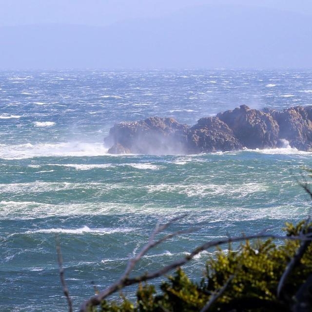Con estas pequeñas brisas que provienen de la Antártida entran las marejadas a Península Mitre.