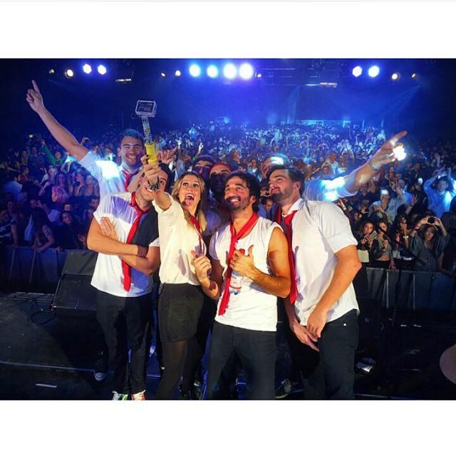 Selfie de @agapornisagp en pleno concierto en #Chile !!