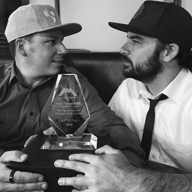 We are blown away. Thank you again #aceawards, Best Video two years in a row is an honor! @conortoumarkine @tonyschmee High Five! #highfivesfoundation