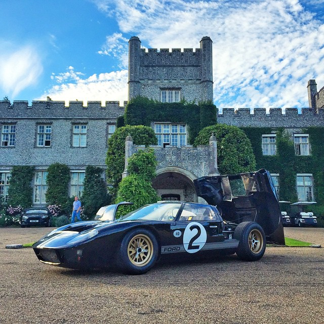 Very proper décor in front of my hotel here in England: an original Ford GT40, with replica decals of the original Le Mans winning #2 racecar. Brought out here by Ford Europe for a press event they're having that coincides with the Goodwood Festival of...