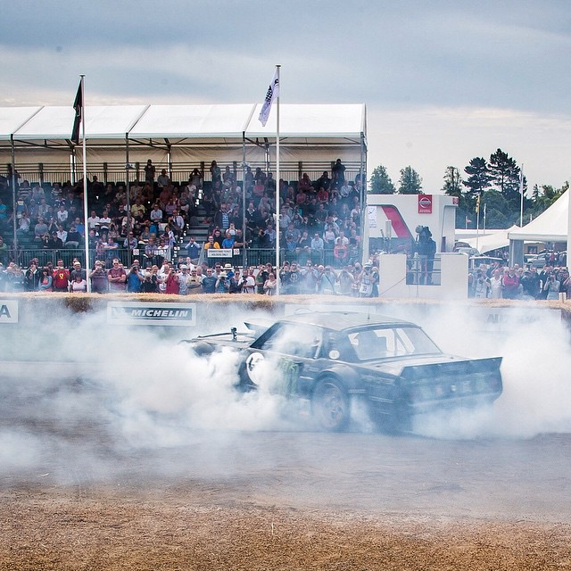Just finished my first run up the hill here at @FOSGoodwood. Kept it off the lawn for Lord March... at least for now. Ha. Stoked to be slaying tires in my Hoonicorn RTR again! #FOS #Hoonicorn #thoushallhoon