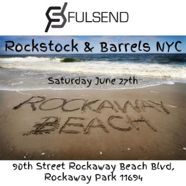 Tomorrow 10am-6pm! 9 Great Bands! Rain or Shine The Fulsend booth will be at beach 90 #rockstocknyc #rockawaybeach #surf #skate #JustSendIt #surfing #skateboarding