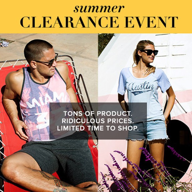 Ready, get set...shop!! The BIG summer clearance event is here. #shop #fashion #sustainable #summer #sale