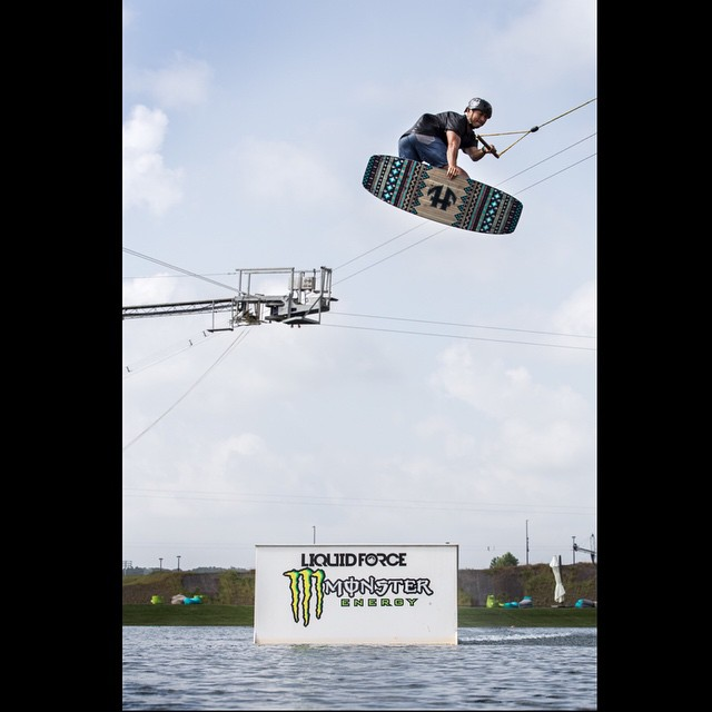 The homie @adamsilcio with a nice method at @terminuswakeatl @ambushboardco.  Only a handful of Planks left in the U.S. Get um while you can #wakeboarding