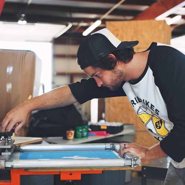 It was just about a year ago that Grant (@mountain_tramp) joined Pine full-time. Since then, he's mastered the art of screenprinting and continues to be a huge part of the company. Cheers, G