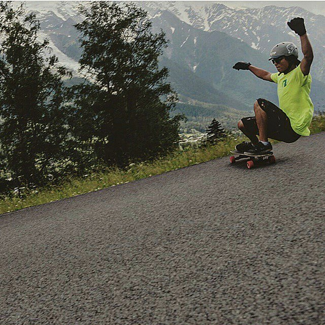 Regram from @m_meurling shredding some beautiful scenery.  It's Friday, get out and skate this weekend!  #wemakerayne