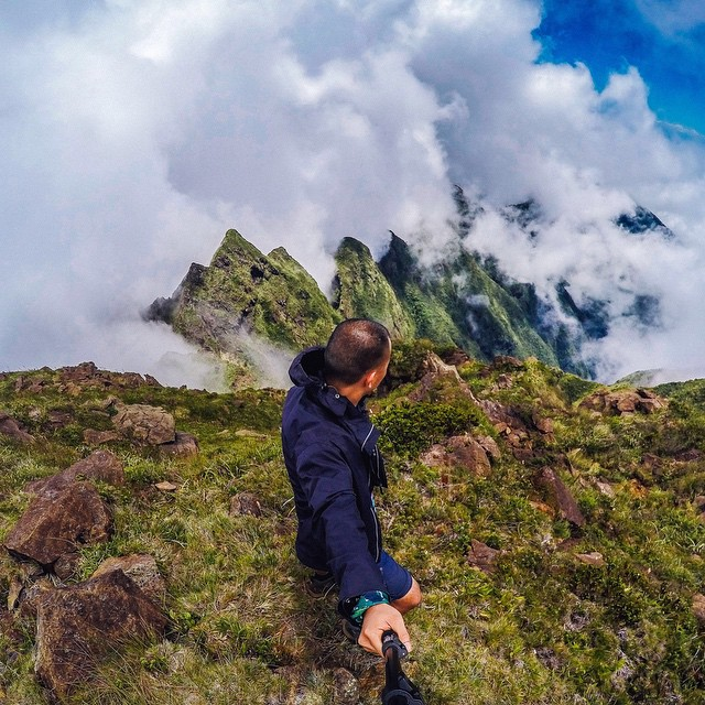 Photo of the Day! At the top of the most physically and technically challenging mountains to climb in the Phillipines, Mt. Guiting-Guiting. Submit your best photos by clicking the link in our profile. #GoPro #Climb #PhotooftheDay