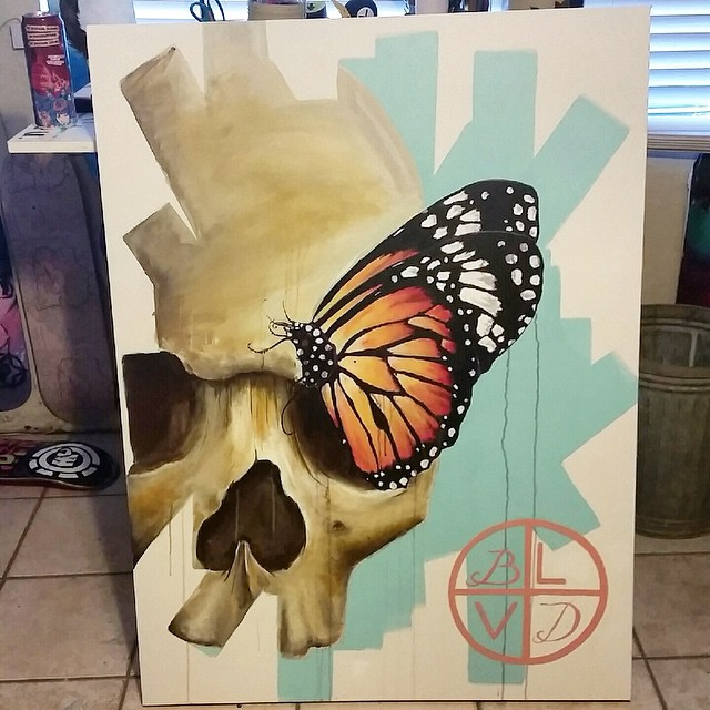 "@blvdart is letting go of this 36 x 48 acrylic on 2"" gallery wrapped canvas for $650... • • #atx #austintx #tx #texas #spratx #blvd #art"