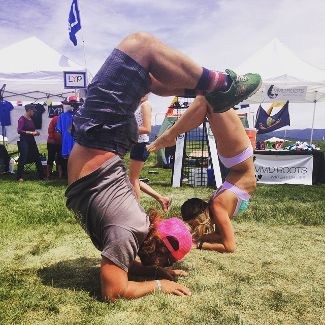 @jvaine1 and our awesome Idaho ambassador @nevyoga in double scorpion last weekend at Payette!